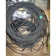 Оптический кабель Б/У для внешней прокладки (с металлическим тросом) в Дзержинском, оптокабель БУ (Дзержинский)