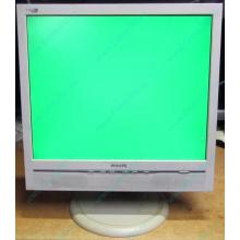 """Б/У монитор 17"""" Philips 170B с колонками и USB-хабом в Дзержинском, белый (Дзержинский)"""